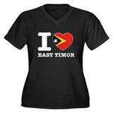 I heart East Timor Women's Plus Size V-Neck Dark T