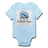 Cute Commercial aircraft Infant Bodysuit