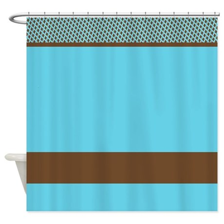 gifts blue bathroom d cor blue and brown pattern shower curtain