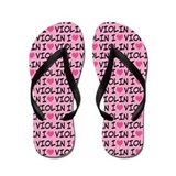 I Love Violin Music Gift Flip Flops