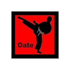 """Martial Arts Male Square Sticker 3"""" x 3"""""""