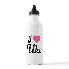 I Heart Uke Water Bottle