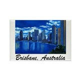 Brisbane City Skyline Rectangle Magnet