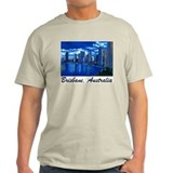 Brisbane City Skyline Ash Grey T-Shirt