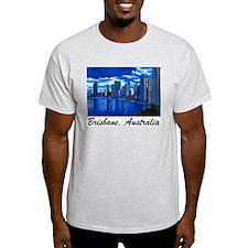 Brisbane City Skyline Ash Grey T-Shirt