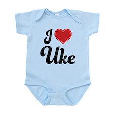 I Heart Uke Infant Bodysuit