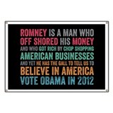 Anti Romney Believe Banner