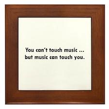 Touch Music Framed Tile