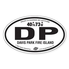 Davis Park Destination Products Oval Decal
