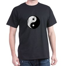 Yin and Yang Black T-Shirt