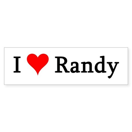 I Love Randy Bumper Sticker