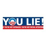 YOU LIE! nobama 36x11 Wall Peel
