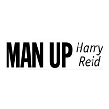 Man Up, Harry Reid 36x11 Wall Peel