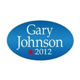 Gary Johnson 2012 Oval Car Magnet