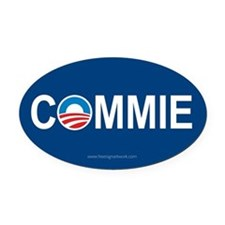 Anti Obama Logo Oval Car Magnets Oval Car Magnet