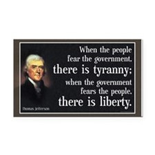 Jefferson: Liberty vs. Tyranny Rectangle Car Magne
