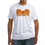 Halloween Pumpkin Bernard Fitted T-Shirt