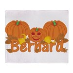 Halloween Pumpkin Bernard Throw Blanket