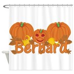 Halloween Pumpkin Bernard Shower Curtain