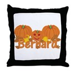 Halloween Pumpkin Bernard Throw Pillow