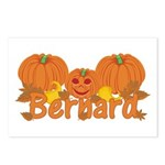 Halloween Pumpkin Bernard Postcards (Package of 8)