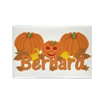Halloween Pumpkin Bernard Rectangle Magnet