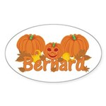 Halloween Pumpkin Bernard Sticker (Oval)