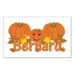 Halloween Pumpkin Bernard Sticker (Rectangle)