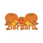 Halloween Pumpkin Bernard 35x21 Wall Decal