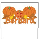 Halloween Pumpkin Bernard Yard Sign
