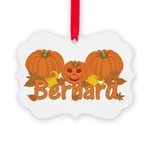 Halloween Pumpkin Bernard Picture Ornament