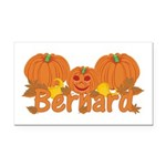 Halloween Pumpkin Bernard Rectangle Car Magnet