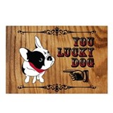 You Lucky French Bulldog Postcard
