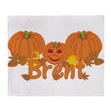 Halloween Pumpkin Brent Throw Blanket