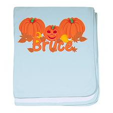 Halloween Pumpkin Bruce baby blanket