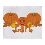 Halloween Pumpkin Carl Throw Blanket