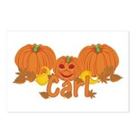 Halloween Pumpkin Carl Postcards (Package of 8)