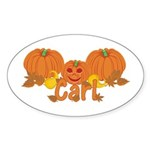 Halloween Pumpkin Carl Sticker (Oval)