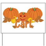 Halloween Pumpkin Carl Yard Sign
