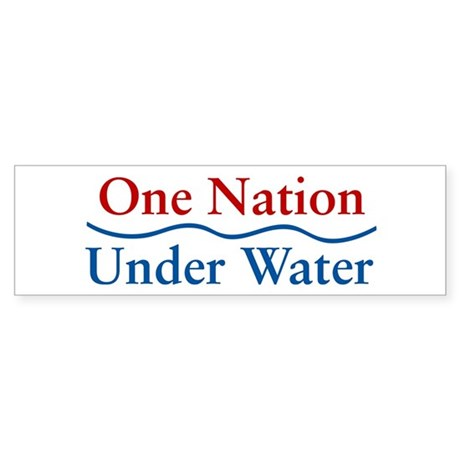 One Nation Under Water Bumper Sticker