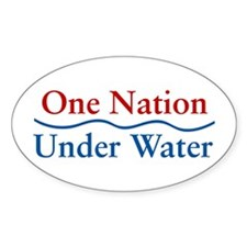 One Nation Under Water Oval Decal