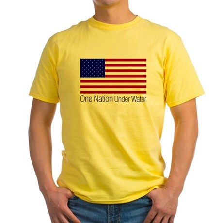 One Nation Under Water Yellow T-Shirt