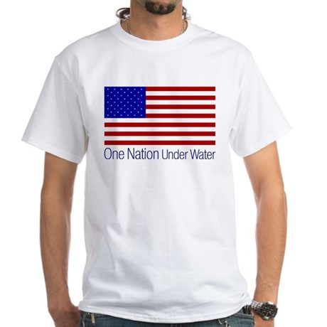 One Nation Under Water White T-Shirt