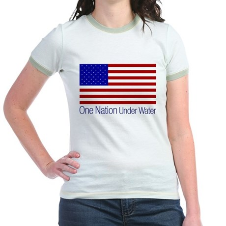 One Nation Under Water Jr Ringer T-Shirt