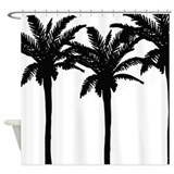 Tropical Beach Palm Tree Shower Curtain