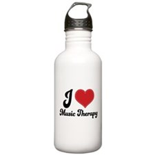 I Heart Music Therapy Water Bottle