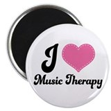 Music therapy 2.25&quot; Round Magnet