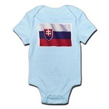 Wavy Slovakia Flag Infant Creeper