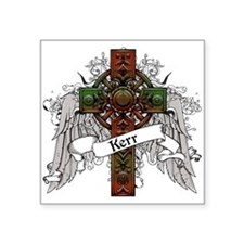 "Kerr Tartan Cross Square Sticker 3"" x 3"""