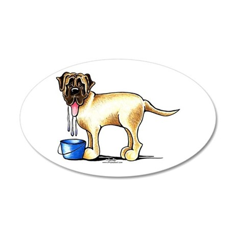 Mastiff Drool 20x12 Oval Wall Decal